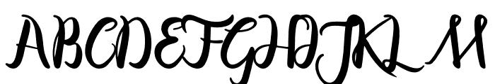 Bayshore Gardens Font UPPERCASE