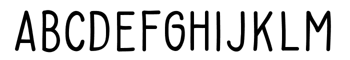 Baysoir Sans Regular Font LOWERCASE