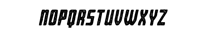 BearboneStampOblique Font LOWERCASE