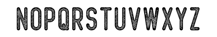 Beatster Letterpress Font UPPERCASE