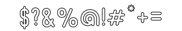 Beatster Outline Font OTHER CHARS