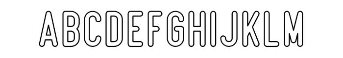 Beatster Outline Font LOWERCASE