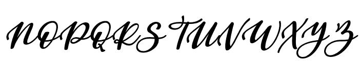 Beauty Dina Italic Font UPPERCASE
