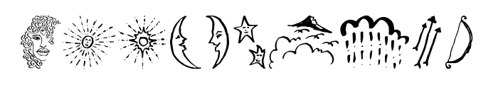 Beauty Heart Doodles Font OTHER CHARS