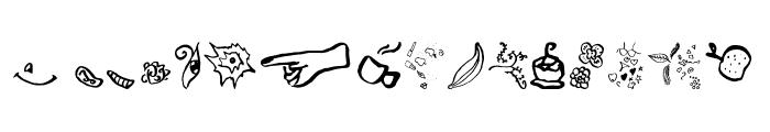 Beauty Heart Doodles Font UPPERCASE