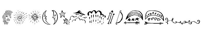 Beauty Heart Doodles Font LOWERCASE
