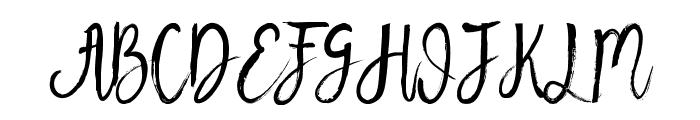 Beauty Heart Script Font UPPERCASE