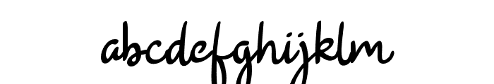 BeautyRains Font LOWERCASE