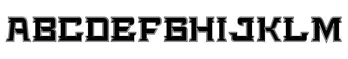 Bedengkang-Expanded Font LOWERCASE