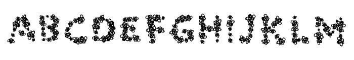 Bees Font UPPERCASE