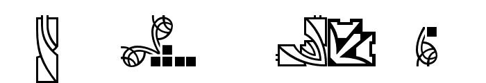 Behrens Schmuck Font OTHER CHARS