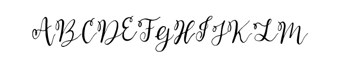 Bellahana Font UPPERCASE