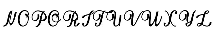 Bellinda script Font UPPERCASE