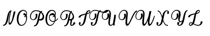 Bellindascript Font UPPERCASE