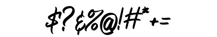 Bellsmore Brush Font OTHER CHARS