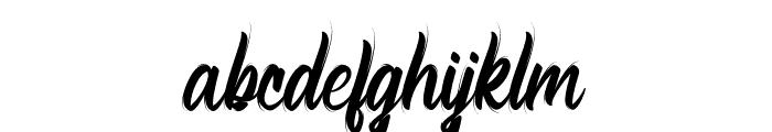 Bellsmore Brush Font LOWERCASE