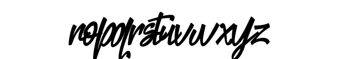 Belluders Font LOWERCASE