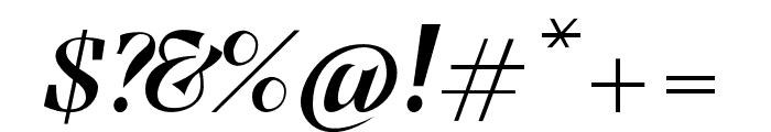 Benihana Alt One Font OTHER CHARS