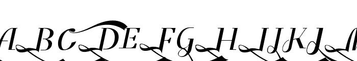Benihana Alt Three Font UPPERCASE