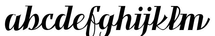 Benihana Alt Three Font LOWERCASE