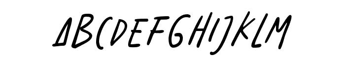 BenoranteWild-Regular Font LOWERCASE