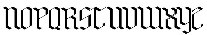 Bensch Gothic Font UPPERCASE
