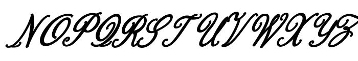 Bernadine Script Bold Italic Font UPPERCASE