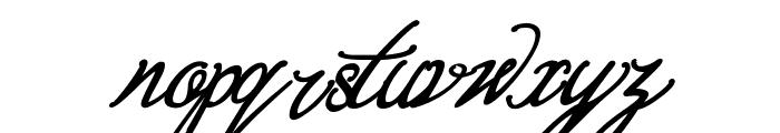 Bernadine Script Bold Italic Font LOWERCASE