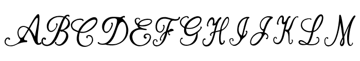 Bernadine Script Font UPPERCASE