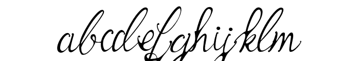 Bernadine Script Font LOWERCASE