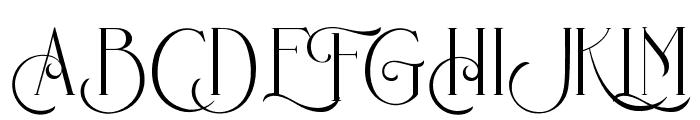 Bernitha Regular Font UPPERCASE