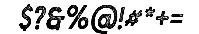Berringer Aged Oblique Font OTHER CHARS