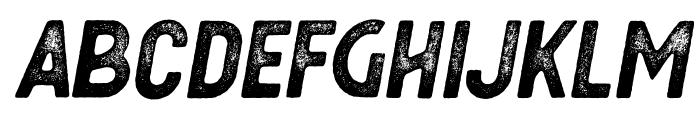 Berringer Aged Oblique Font UPPERCASE
