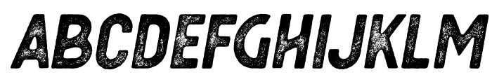 Berringer Aged Oblique Font LOWERCASE