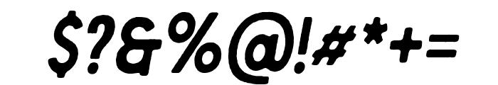 Berringer Rough Oblique Font OTHER CHARS