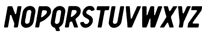 Berringer Rough Oblique Font UPPERCASE