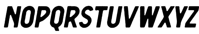 Berringer Rough Oblique Font LOWERCASE