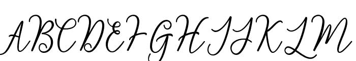 BerrylinaScript Font UPPERCASE