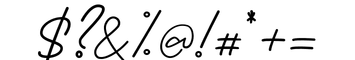 BessitaHandwriting Font OTHER CHARS