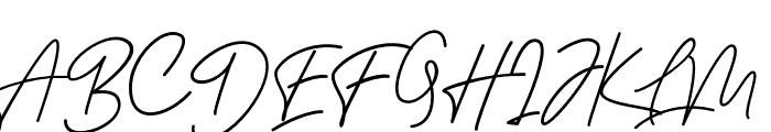 BessitaHandwriting Font UPPERCASE