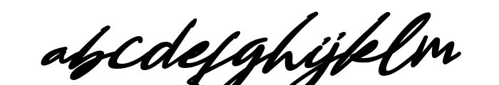 Bestowens Family Bold Italic Font LOWERCASE