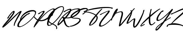 Bestowens Family Semi Bold Italic Font UPPERCASE