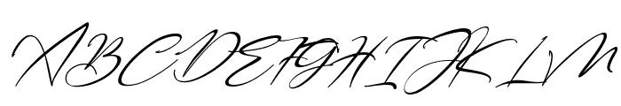 Bestowens Family Thin Italic Font UPPERCASE
