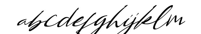 Bestowens Family Thin Italic Font LOWERCASE