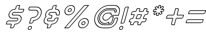Betelguesse Hollow Italic Font OTHER CHARS