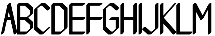 Beucad regular Font UPPERCASE
