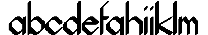 Beucad regular Font LOWERCASE