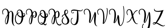 BeverlyScript Font UPPERCASE