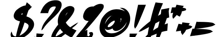 Bhutan Italic Font OTHER CHARS
