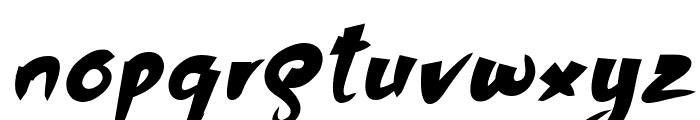 Bhutan Italic Font LOWERCASE